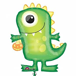 Amscan International Skeleton Shape Boo Crew Monster (Green)