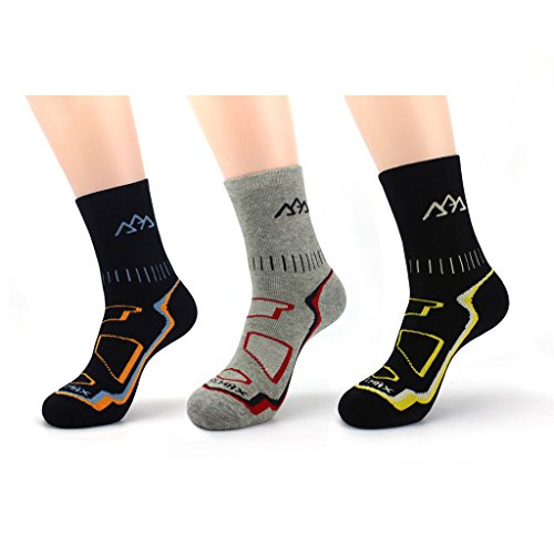 Waymoda 3 Pairs Unisex Winter Warm Hiking Socks, Thicken and Breathable, Coolmax and Cotton material, full fluffy inside, Absorb shock Cushion, No Blister, Outdoor Sports Running Trekking Walking Climbing Trainer Sox (Schuhe Plaid-herren)