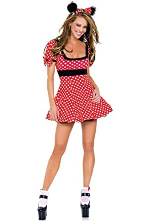 COSTUME DEGUISEMENT SEXY MINNIE MOUSE DISNEY LINGERIE COQUINE