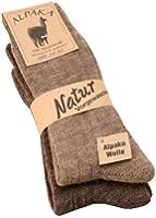 Alpaka Socken mit Alpaka Wolle weich und warm, 2 Paar,