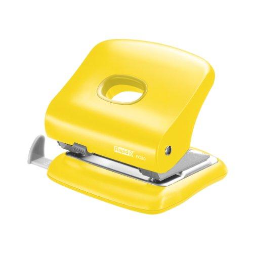 Rapid Starker Bürolocher FC30, Kunststoff/Metall, 30 Blatt, gelb