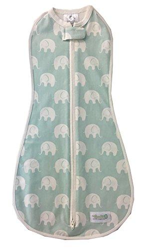 Saco Woombie para bebés de 0 a 3 meses, color azul, diseño...