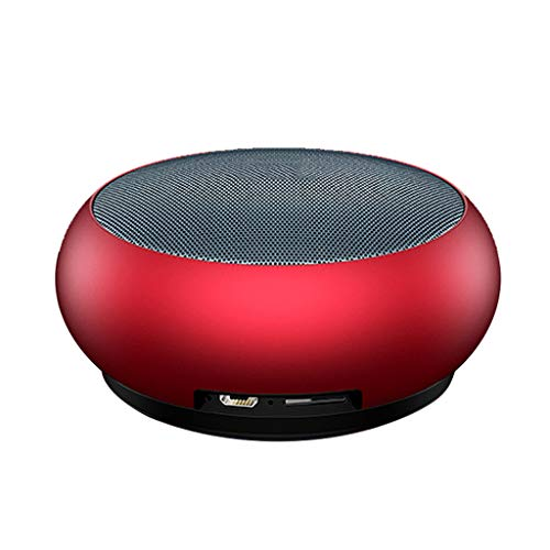 Bluetooth Lautsprecher, Metall Mini tragbare Wasserdichte 750 MAh Lithium Batterie Wireless Super Bass (Color : Red) 750 Mah Lithium-batterie