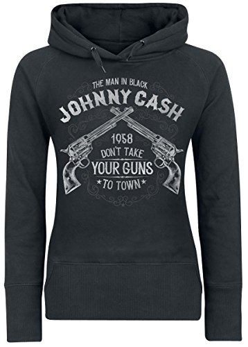 Johnny Cash Take Your Guns Felpa donna nero M