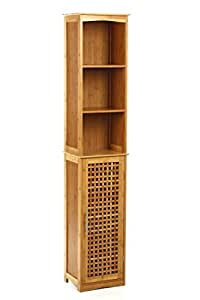 tall bathroom storage cabinet bamboo kitchen home
