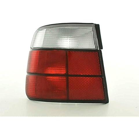 Kit de pilotos traseros para BMW serie 5 sedan modelo E34 88-94 blanco rojo