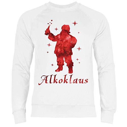 Royal Shirt Herren Sweatshirt Der Liebe Alkoklaus, Größe:S, Farbe:White