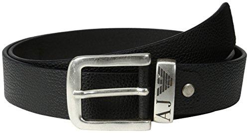 Armani Jeans 06196R6, Cintura Uomo, Schwarz (Nero-Black 12), cm