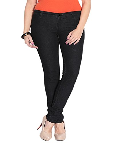 Ganga Women's Denim Jeans (BLK40728_32 _Black_32)