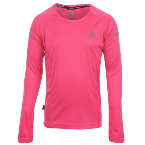 Karrimor Kids Long Sleeved Running Top Girls Pink 7-8 (SG)