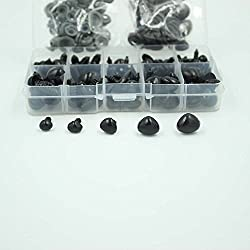 You will get: 20pcs 8 * 6.5 mm 20pcs 9 * 7.5 mm 20pcs 11 * 9 MM 20pcs 13.5 * 10 mm 20Pcs 15 * 11.5 mm All in One Box Comes With washers.