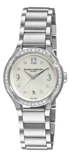 Baume & Mercier 8772 - Reloj para mujeres, correa de acero inoxidable