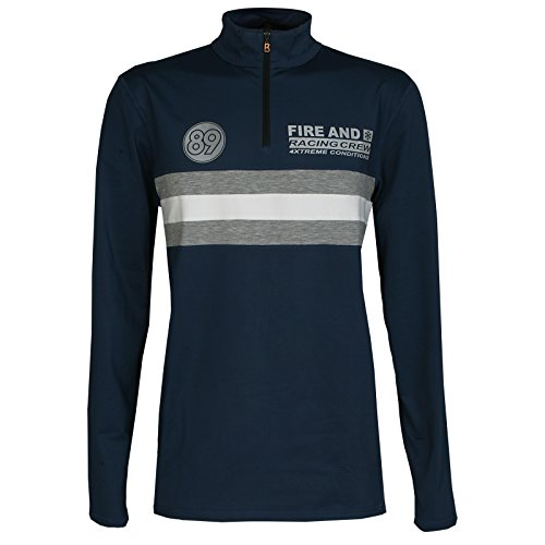Bogner Herren Skishirt first layer FARELL blau Gr. XL (54)