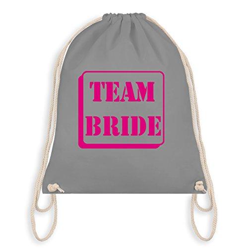 JGA Junggesellinnenabschied - Team Bride - Turnbeutel I Gym Bag Hellgrau