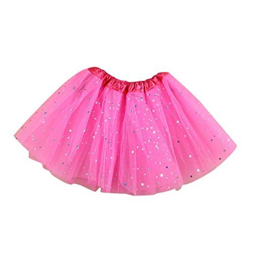 NiSeng Baby Mädchen Pettiskirt Princess Tüllrock Ballettrock mit Sternchen Pailletten Tütü Tutu Tanzkleid Ballettkleid in verschiedenen Farben (Kostüm Kilt Mädchen)