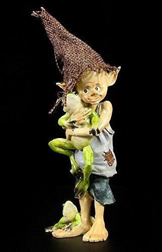 Pixie Kobold Figur - Mein Freund der Frosch   Gnom Zwerg Troll (Frosch-sammler Figur)