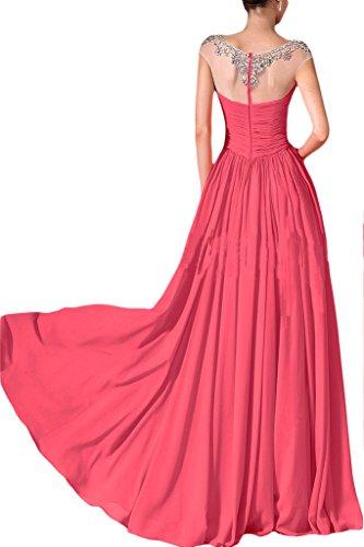 ivyd ressing Femme mousseline & tuell A ligne pierres soirée robe robe de bal Pastèque