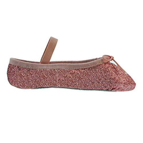 Bloch 225 della polvere di scintillio Scarpette per danza classica, completa Sole Rose Glitter Dust