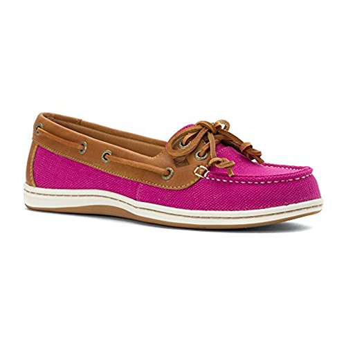 Sperry Top-Sider  Firefish Stripe Leather Fabric, Damen Bootsportschuhe grau grau Hellrosa