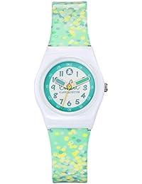 Lulu Castagnette - 38762 - Montre Fille - Quartz Analogique - Cadran Blanc - Bracelet Plastique Multicolore