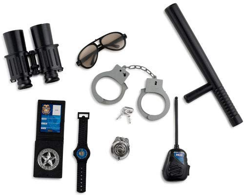 Polizei Kit Kostüm Kinder - Dress Up America Polizist stellvertretender Rollenspiel Kit für Kinder