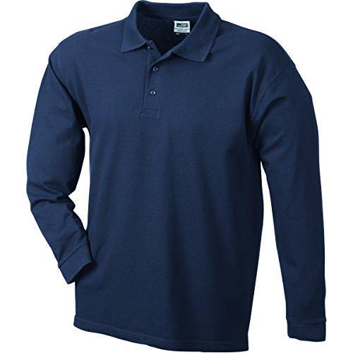 JAMES & NICHOLSON Herren Poloshirt, Einfarbig Marineblau
