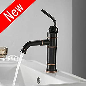 Leekayer Grifos de lavabo Monomando 360° Grifos Modernos Negro sin Plomo para Lavabos del Cuarto de Baño Agua Fria y…