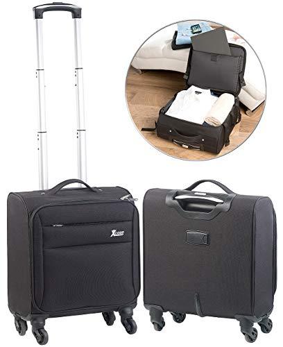 Xcase Notebookkoffer: Business-Trolley, Notebook-Fach, 4 Leichtlauf-Rollen, 21 Liter, 2,3 kg (Piloten-Koffer)