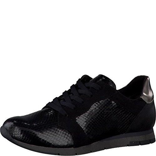Tamaris , Chaussures à lacets et coupe classique femme BLACK STR.COMB