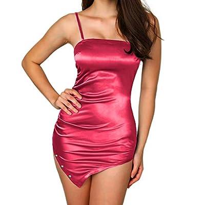 Sufeng Women Solid Sleeveless Camisole Suspender Strapless Zipper Mini Dresses