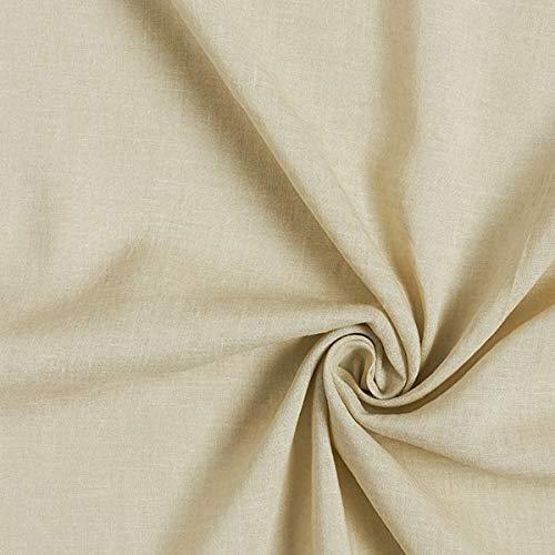 Gewaschenes Leinen Tunika (Fabulous Fabrics Viskose Leinen Voile, gewaschen - Sand - Meterware ab 0,5m - zum Nähen von Blusen, Hemden und Hosen)