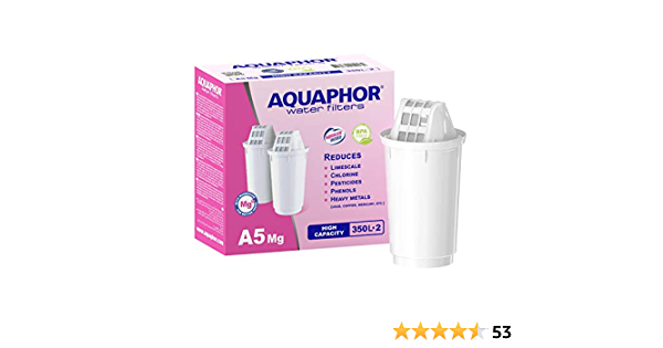 AQUAPHOR A5 Mg Pack 2 Wasserfilterkartusche mit AQUALEN Technologie BPA-frei