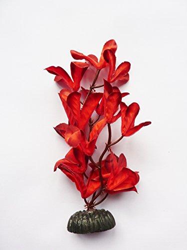 Fish Around Aquarium Plant Decor Red Orchid (x1-13cm) 1