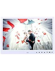 LINGHOU Marco fotográfico digital de 13 pulgadas y marco de vídeo de alta definición con sensor de movimiento Multi-Purpose HD Touch Digital Photo Frames Álbum electrónico , white
