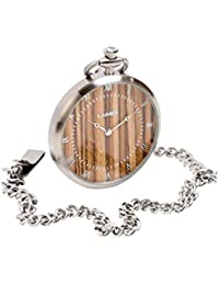 LAIMER Men's Wooden Pocket Watch - 0128 Zebrano