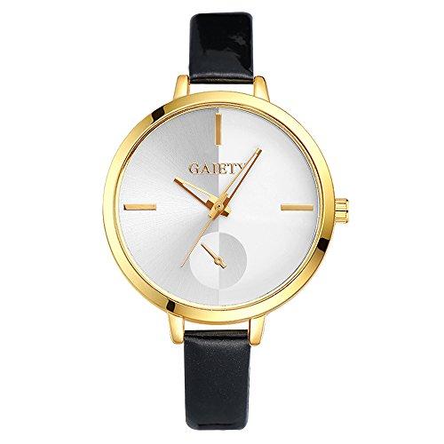 Sonew-Frauen-Armbanduhr-Quarz-analoge-Uhr-Runder-Vorwahlknopf-PU-Lederner-Bgel-Legierungs-Kasten-Edle-Elegante-Einfache-Klassische-Armbanduhr-fr-Weibliche-Dame-Girl