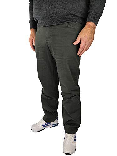 Herren 5-Pocket Stretch Twill Hose 60, 62, 64, 66, 68, 70, XL, XXL, 3XL, 4XL, 5XL, 6XL, Große Größen, Übergröße, Big Size, Plus Size (64, Khaki)