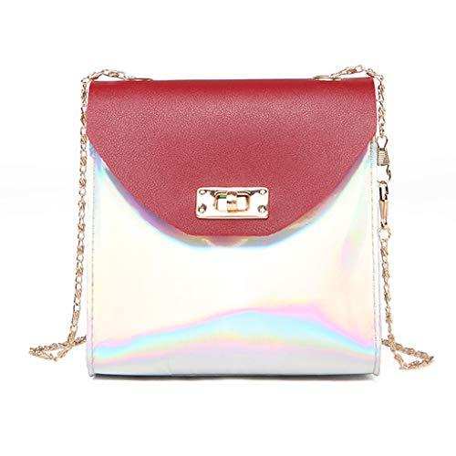 Mitlfuny handbemalte Ledertasche, Schultertasche, Geschenk, Handgefertigte Tasche,Neue süße Frau Umhängetasche Geldbörse kleine quadratische Tasche kreative Umhängetasche