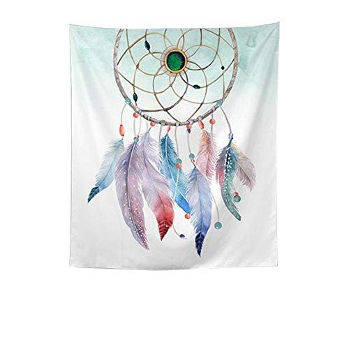 QEES - Tapiz colgante de pared con plumas en atrapasueños, para colgar en la pared, diseño de plumas tribales americanas para decoración del hogar, dormitorio, sala de estar, decoración GT46, poliéster, Style 2, 130x150 CM