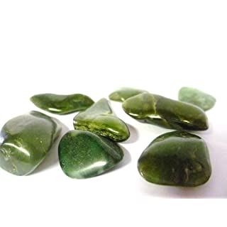 Tumbled Green Nephrite Jade Tumble Stone - A Grade Quality Crystal - Attracts good luck and friendship. - Free Postage!