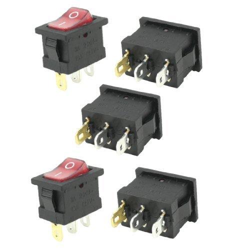 10a Einpolige (AC 6A 250V 10A 125V einpolige Schließer Neonlampe Rocker Switch 5 PC)