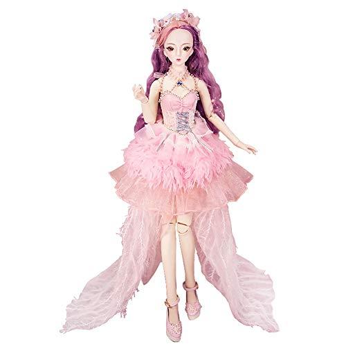 MEMIND Bjd 1/3 Puppe Ruy Puppe Anime Stil Puppe Mode Puppe Geburtstagsgeschenk Gemeinsame Puppe Kind Playmate Mädchen Spielzeug Puppe (Halloween Doll Barbie Makeup)
