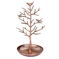 Discoball Jewellery Display/Stand/Holder - New Antique Silver Bronze Birds Tree Earring Necklace Bracelets Jewelry Holders Hanging Organiser Rack Tower