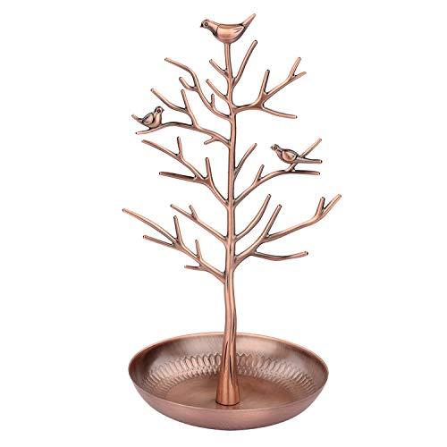 Discoball - Présentoir / support à bijoux - Nouvel antiquité Bronze antique Oiseaux Arbre Boucle d'oreille Collier Bracelets Porte-bijoux Organisateur suspendu Tour de support (Bronze antique)