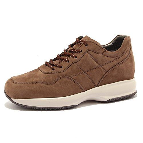 ebfaf6ae678be Hogan 6860u Sneaker Homme Interactive H Couture Daim Marron Chaussure  Marron Marais Hommes