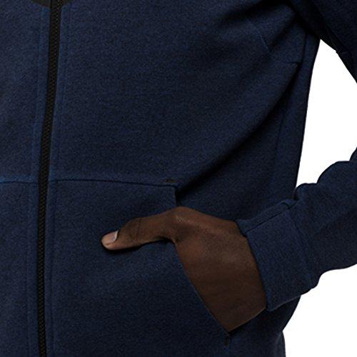 Nike M NSW TCH FLC WR HOODIE FZ - Sweatshirt Schwarz weiß/schwarz (obsidian/htr/Black)