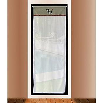 Soleil docre Tendina a Vetro Ricamata in Cotone 70x200 cm Black Dress