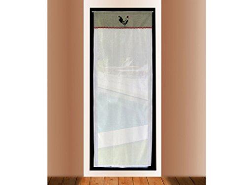 soleil duocre visillo puerta acristalada bordado de algodn x cm coq