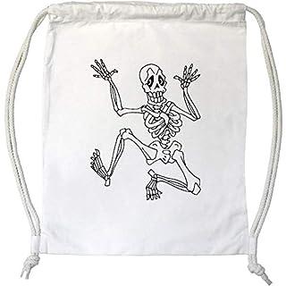 Azeeda 'Skeleton' Drawstring Gym Bag / Sack (DB00001658)