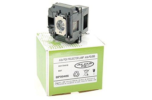Alda PQ® Premium, Beamerlampe / Ersatzlampe kompatibel mit EPSON BrightLink 425Wi, BrightLink 430i, BrightLink 435Wi, EB-420, EB-425W, EB-905, EB-93, EB-93e, EB-95, EB-96W, H381A, H382A, H383A, H384A, H387A, H387B, H387C, PowerLite 420, PowerLite 425W, PowerLite 905, PowerLite 92, PowerLite 93, PowerLite 93+, PowerLite 95, PowerLite 96W Projektoren, Alda PQ® Lampe mit Gehäuse / Halterung